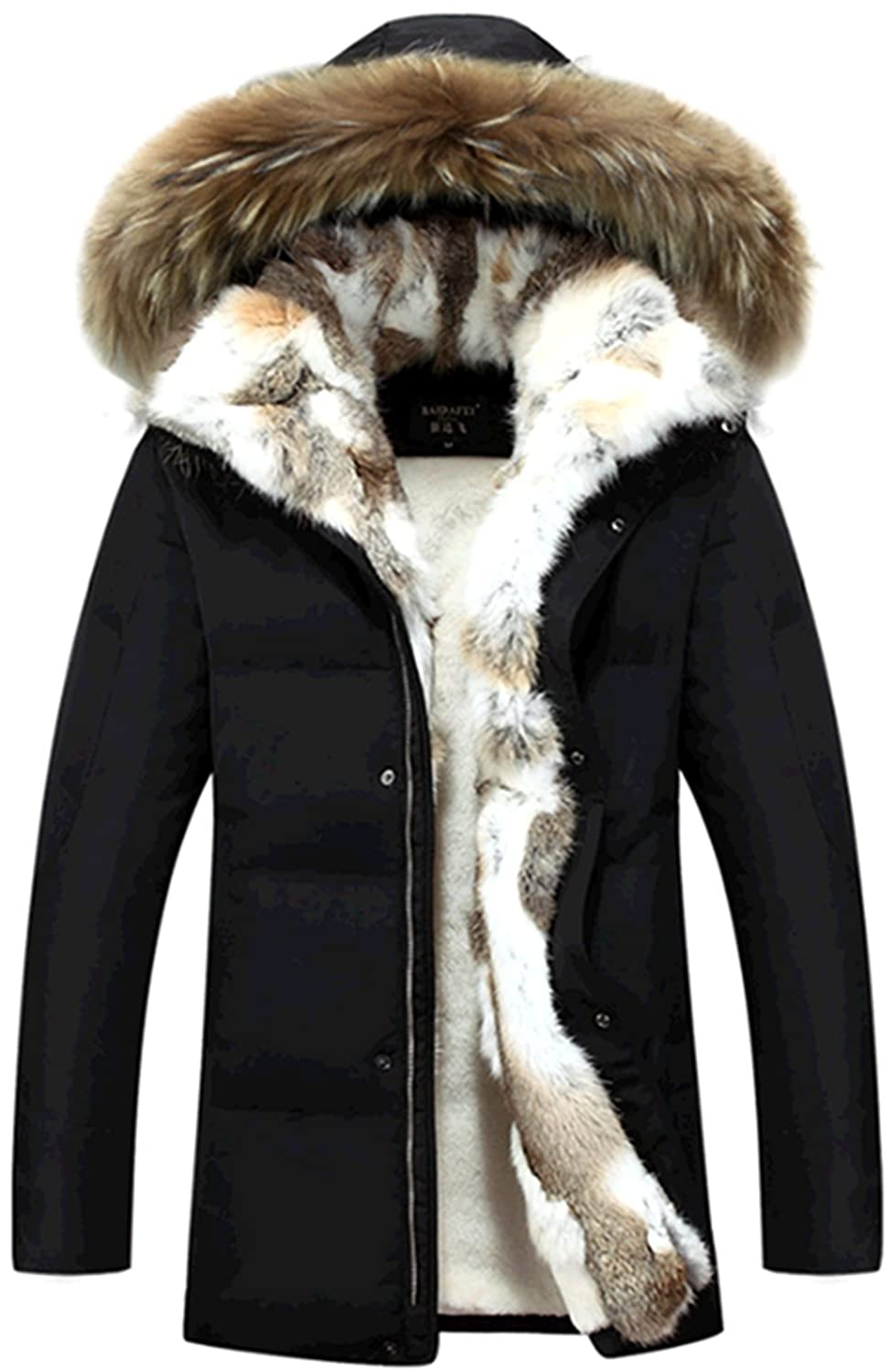 52b8fd3a6 WSAZM Mens Winter Large Size Warmth 90% Down Coat Parka Jackets Fur ...
