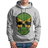 Boys Halloween Brazil Flag Skull Patterns Print Athletic Pullover Tops Fashion Sweatshirts