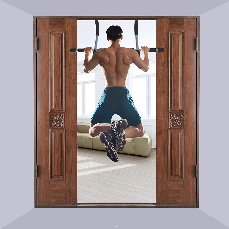 DaMohony Klimmzugstangen Home Fitness Horizontale Klimmz/üge Fitnessraum Oberk/örper Workout Bar an Der T/ür Wand Innen
