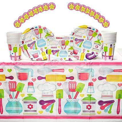 Amazon.com: Little Chef - Pack de 16 pegatinas para fiestas ...