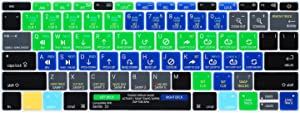 WYGCH Shortcuts Hotkey Silicone Keyboard Cover Protective Skin Compatible with MacBook Pro 13 inch 2017 & 2016 Release A1708 Without Touch Bar and MacBook 12 inch A1534,USA Version-Serato DJ