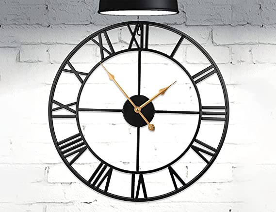 Ring Circle Wall Clock Minimalist Wall Mounted Silent Non Ticking Modern Creative Wall\u00a0Clock without number