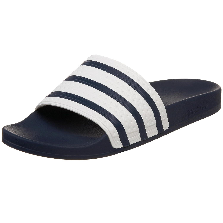 adidas Originals Men's Adilette Slide Sandal, Adi BlueWhite, 8 M US