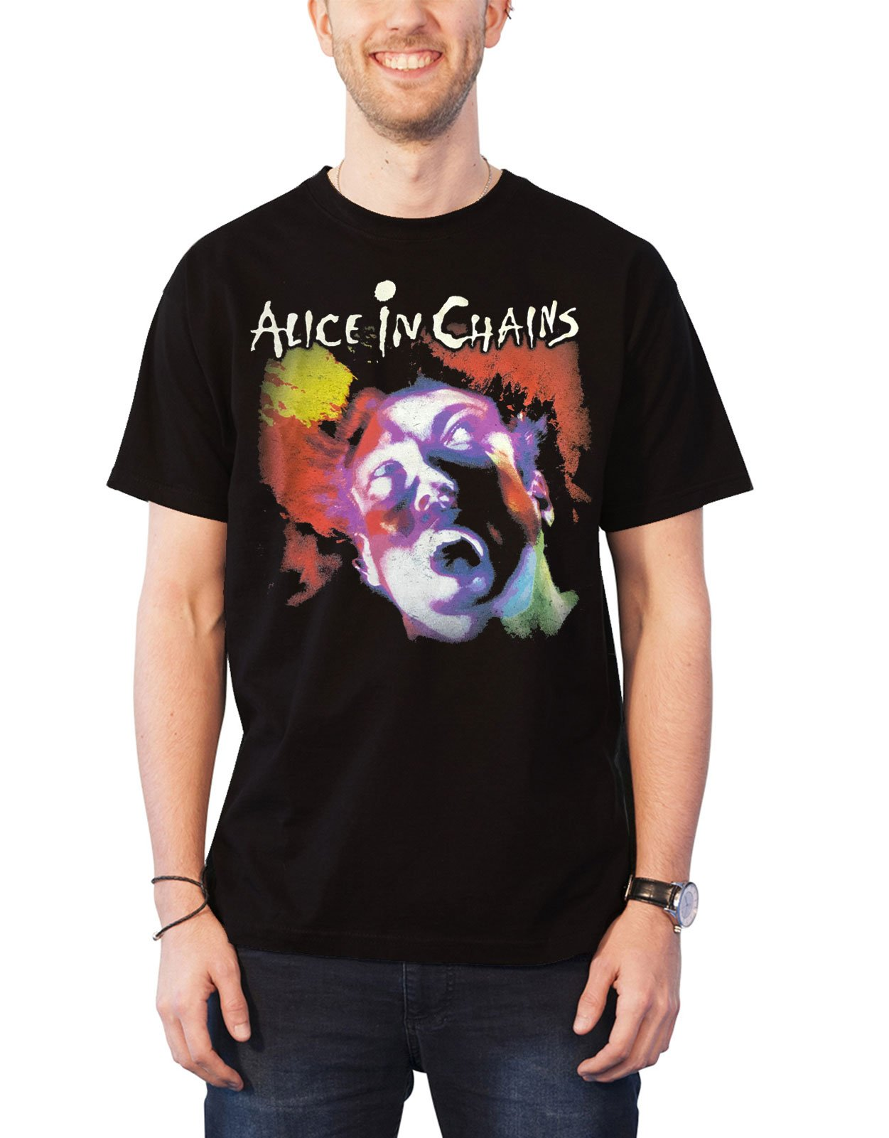Alice In Chains T Shirt Face Lift Band Logo S 1398