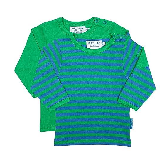 Toby Tiger - Camiseta de Manga Larga - para niño Verde Verde XXX ...