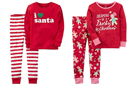 6706b72bc Amazon.com  Carter s Toddler and Little Girls 4 Piece Snug Fit Long ...