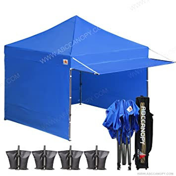 10x10 AbcCanopy Easy Pop Up Canopy Tent Instant Shelter Commercial Portable Market With Matching Sidewalls