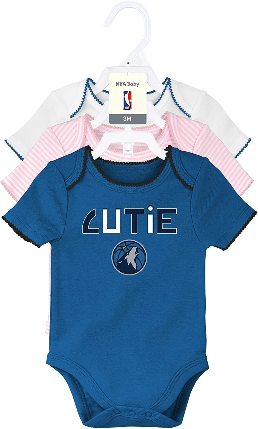 NBA by Outerstuff NBA Unisex-Baby NBA Newborn B-Ball Love Gown Hat and Bootie Set