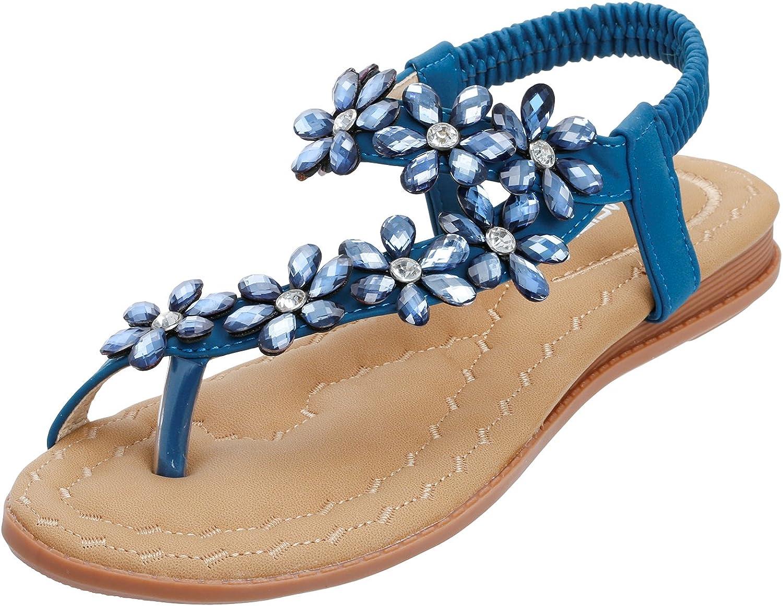 Damen Flache Pantoletten Sandalen Sommer Sandaletten