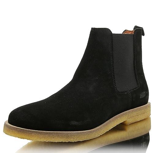 premium selection ac2e3 d1352 SHOOT Herren Chelsea-Boots Wildleder | Bequeme Schuhe | echtes Leder |  atmungsaktiv in schwarz beige grau | Größe 40-47