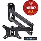 "TV Wall Mount Bracket, Full Motion Swivel and 15"" Extension Arm for most 13 to 30-inch TVs"