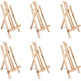 "14"" A-Frame Painting Easels 6-Pack, Ohuhu 14 Inches Tall Display Stand Tabletop Art Easel Set Mini Wood Painting Easels…"