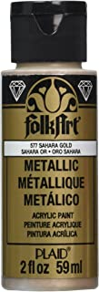 product image for FolkArt Metallic Acrylic Paint in Assorted Colors (2 oz), 577, Sashara Gold