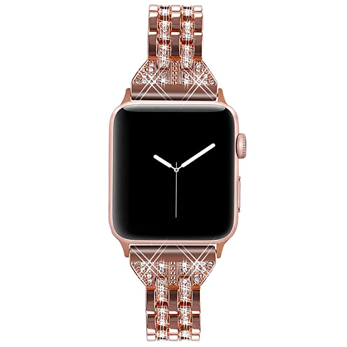 Amazon.com: Viqiv - Correa de metal para Apple Watch (1.496 ...