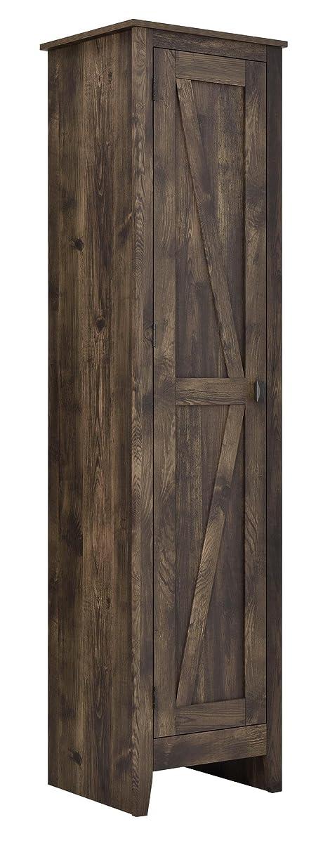 "Ameriwood Home 7531096COM Farmington Wide Storage Cabinet, 18"", Rustic"