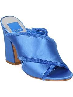 5da729b36db Dolce Vita Henry Women Satin Open Toe Cross Strap Block Heel Sandal HA57