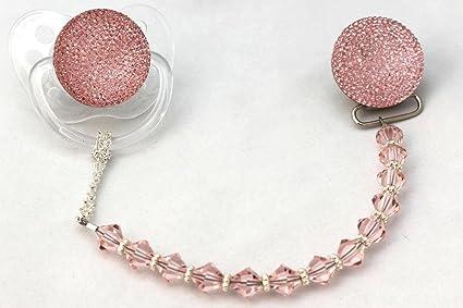 Cristal sueño rosa brillante Glitter Crystal Chupete con ...