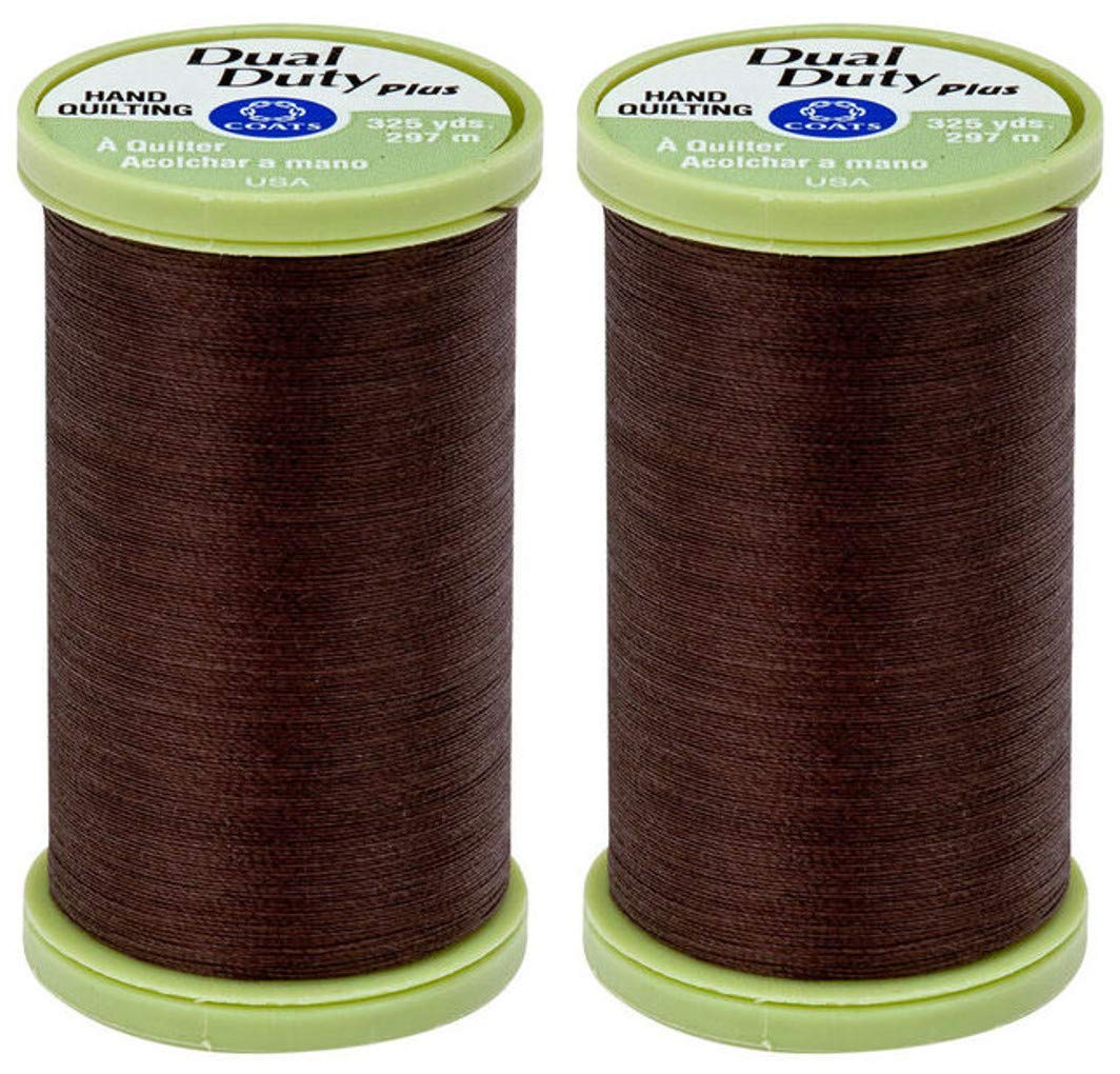 2-Pack Bundle Coats /& Clark Dual Duty Plus Hand Quilting Thread 325yds Golden Tan s960-8140