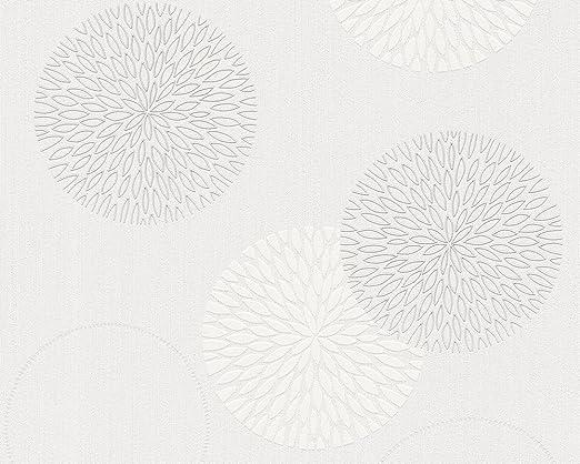 Vliestapete 93792-2 AS Creation Tapete Modern Floral creme weiß 937922