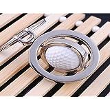 LL-Golf® drehbarer Golfball Schlüsselanhänger in 3D Optik / Golf Geschenk / Golfgeschenk