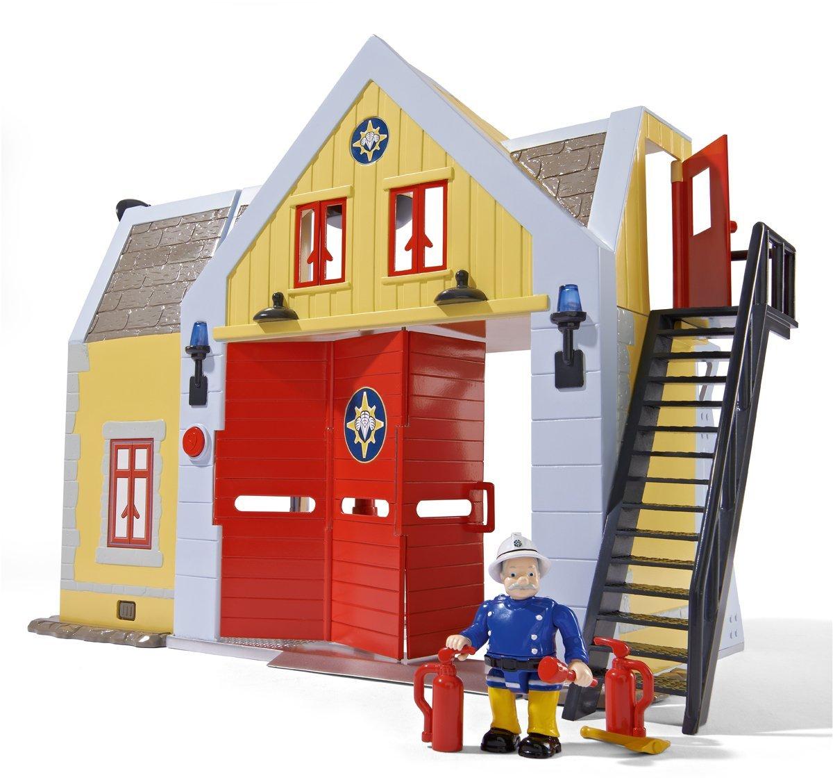 Sam Le Pompier - Fireman Sam - Deluxe La Caserne des Pompiers, son caractère & Steele B00JMVFKF8