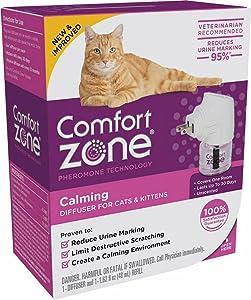Comfort Zone Cat Calming Diffuser Kit, Cat Pheromone Spray, 1 Diffuser, 1 Refill, Original Formula , Original Formula