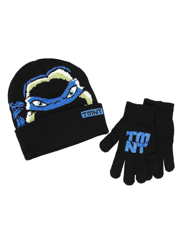 TMNT Teenage Mutant Ninja Turtles Boys Beanie Hat and Gloves Set (Little Kid/Big Kid) Blue) manufacturer