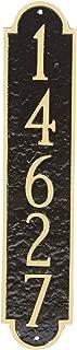 """product image for Montague Metal PCS-0128S1-W-ACC Rockford Column Address Sign Plaque, 18.75"""" x 3.75"""", Antique Copper/Copper"""