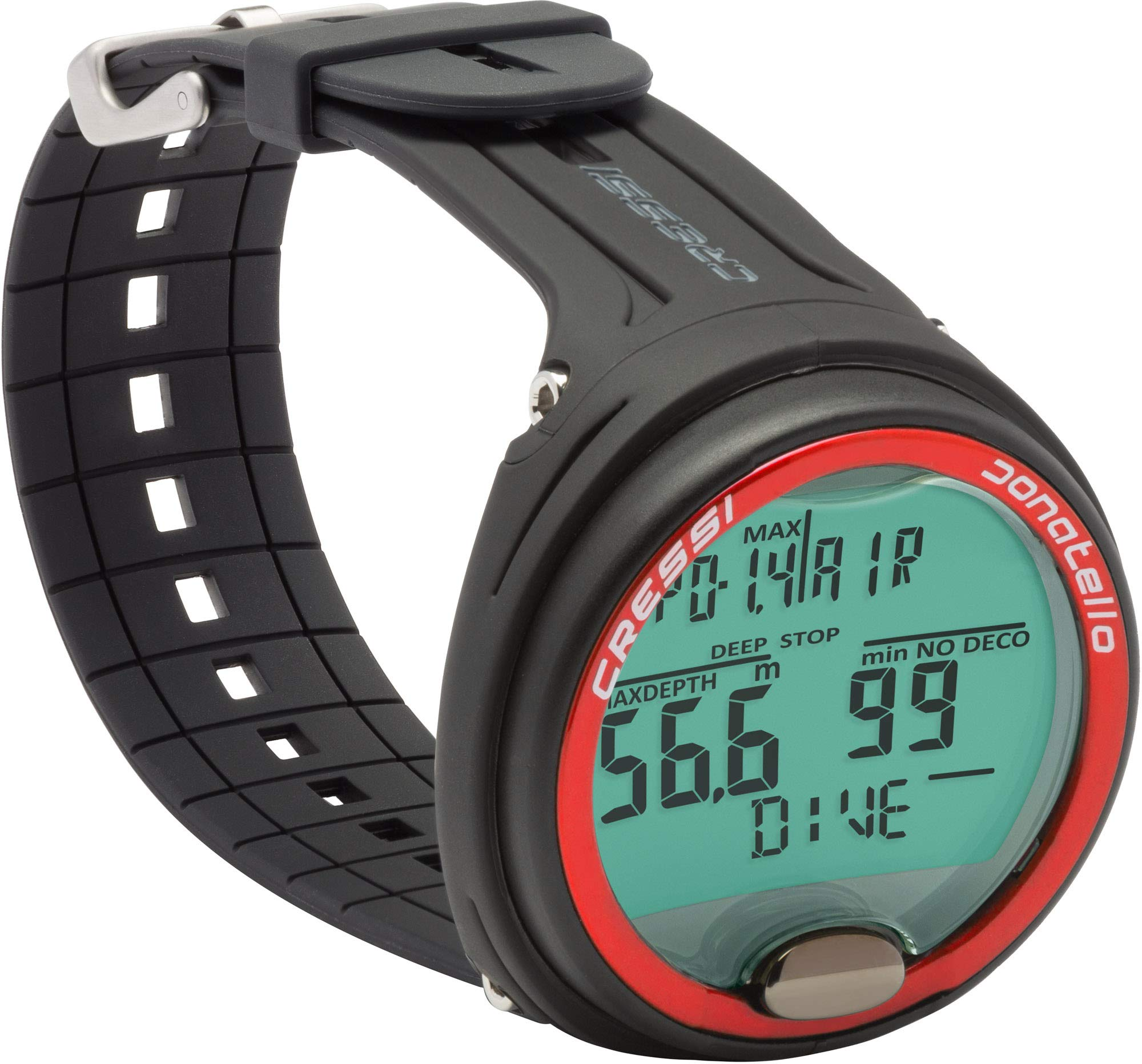 Cressi Scuba Diving Computer for Beginners   4-Dive Modes: Air • Nitrox • Gauge • Free   Long Battery Life   Strong Backlit Display   Donatello: Made in Italy