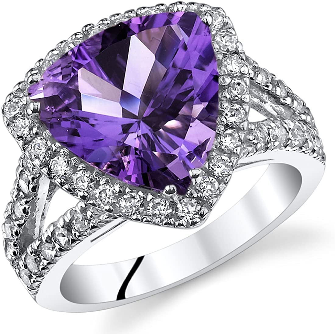 Free Shipping Amethyst Natural Oval Sizes Stone Rings Solid 9251000 Sterling Silver Handmade Fine jewelry Ring All sizes available