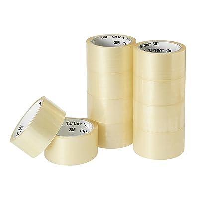 3M 透明梱包テープ タータン 49m×10巻パック 301T-4849-10R 税込752円(75.2円/巻) プライム会員送料無料【100均とは比較にならない品質】