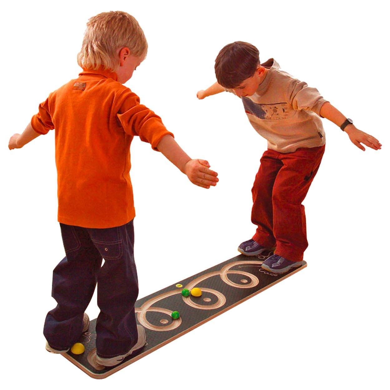 Balancierbrett Wendel mit 3 Kugeln, Balancierspiel, Kinder, Balance Spiel