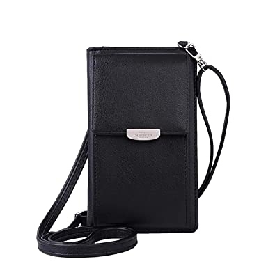 6279e4a7e91 NYKKOLA Womens Wallet Bag Leather Coin Cell Phone Purse Handbag Mini  Cross-body Shoulder Bag with Strap: Amazon.co.uk: Shoes & Bags