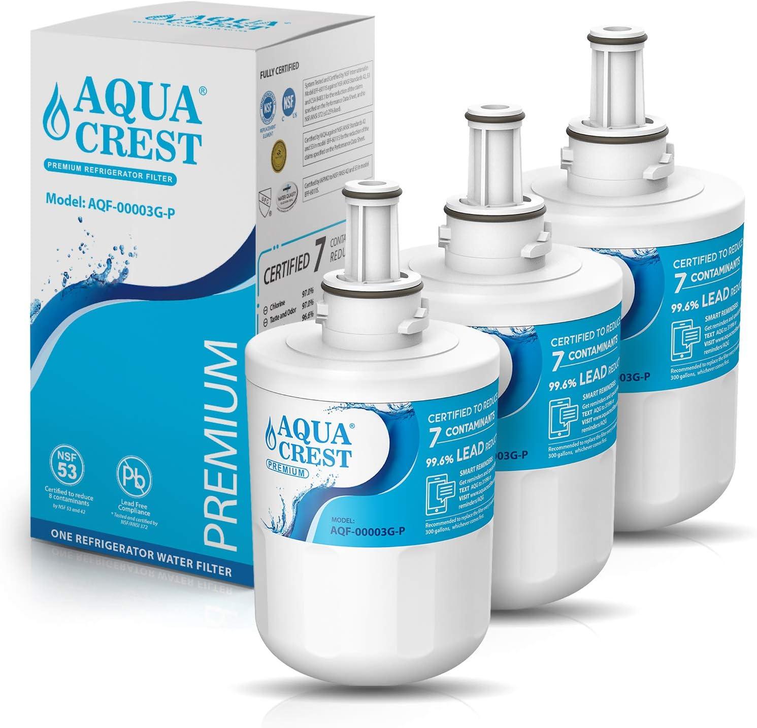 3 Pack Aqua Fresh Water Filter Fits Samsung RS267LBSH Refrigerators
