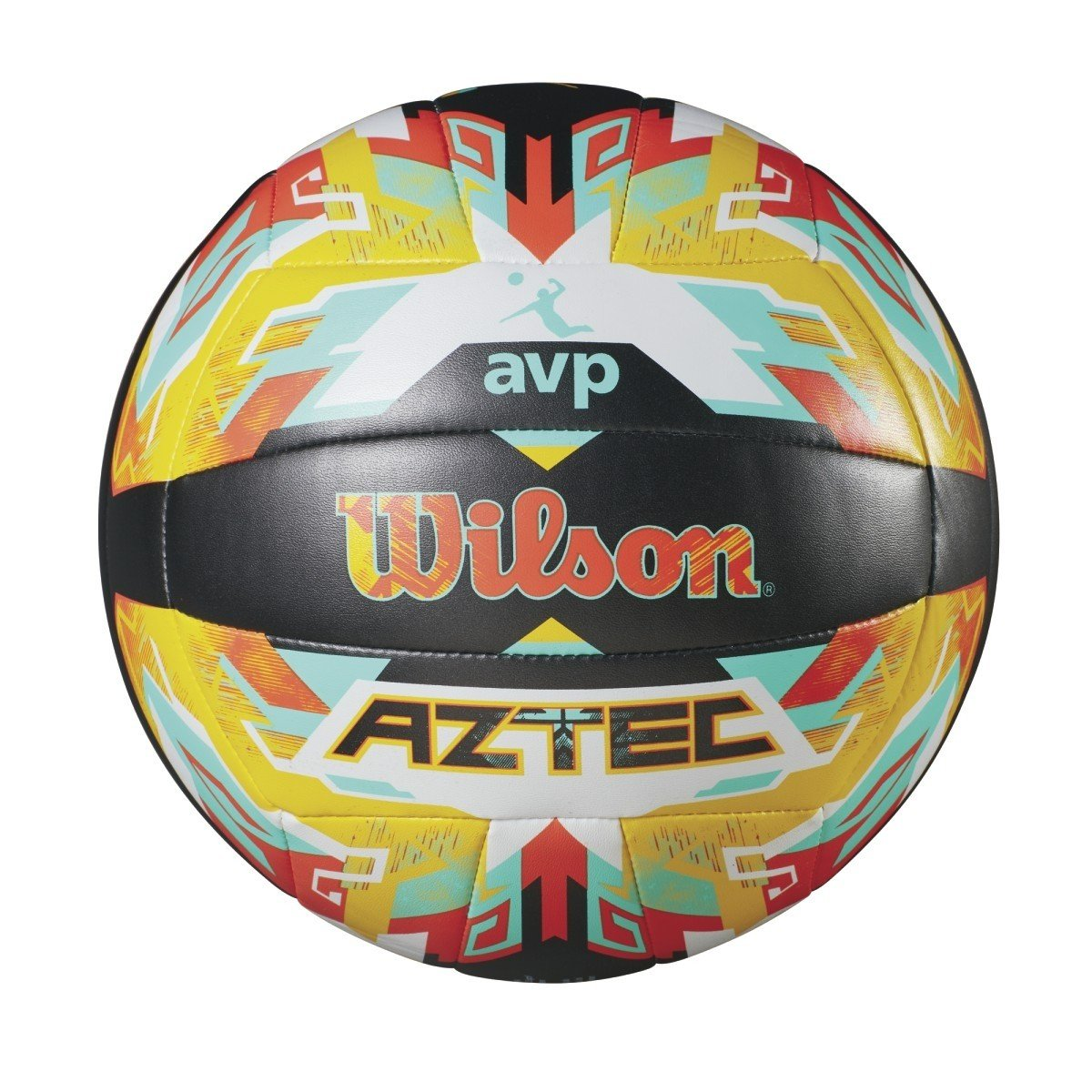 Wilson Pelota de vóley-playa, Exterior, Uso recreativo, Tamaño oficial, AVP AZTEC, Naranja/Azul, WTH5682XB Tamaño oficial