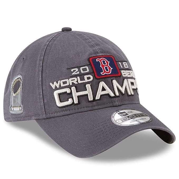 483f268ccde51d Amazon.com : New Era Boston Red Sox 2018 World Series Champions 920  Adjustable Hat : Clothing