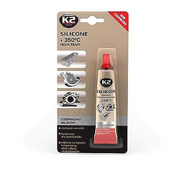 K2 Silikon Silikon Hochtemperatur Dichtmasse 350° Rot 300g Auto-anbau- & -zubehörteile Sonstige