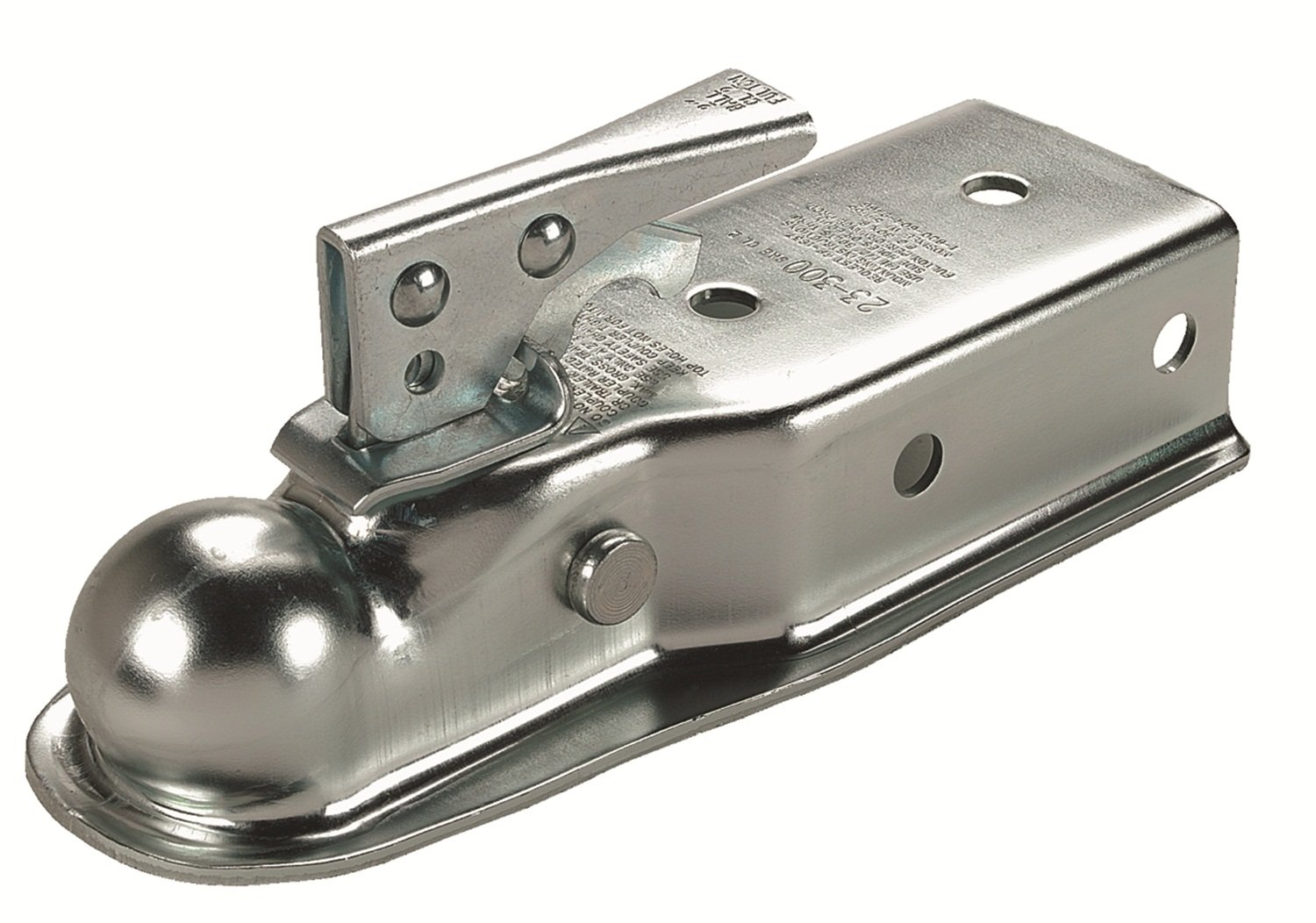 Fulton Straight Coupler, Class II, 2-Inch Ball, 3-Inch Channel-Holes On 3-Inch Centers, 3500-Pound, Zinc 23300 0301