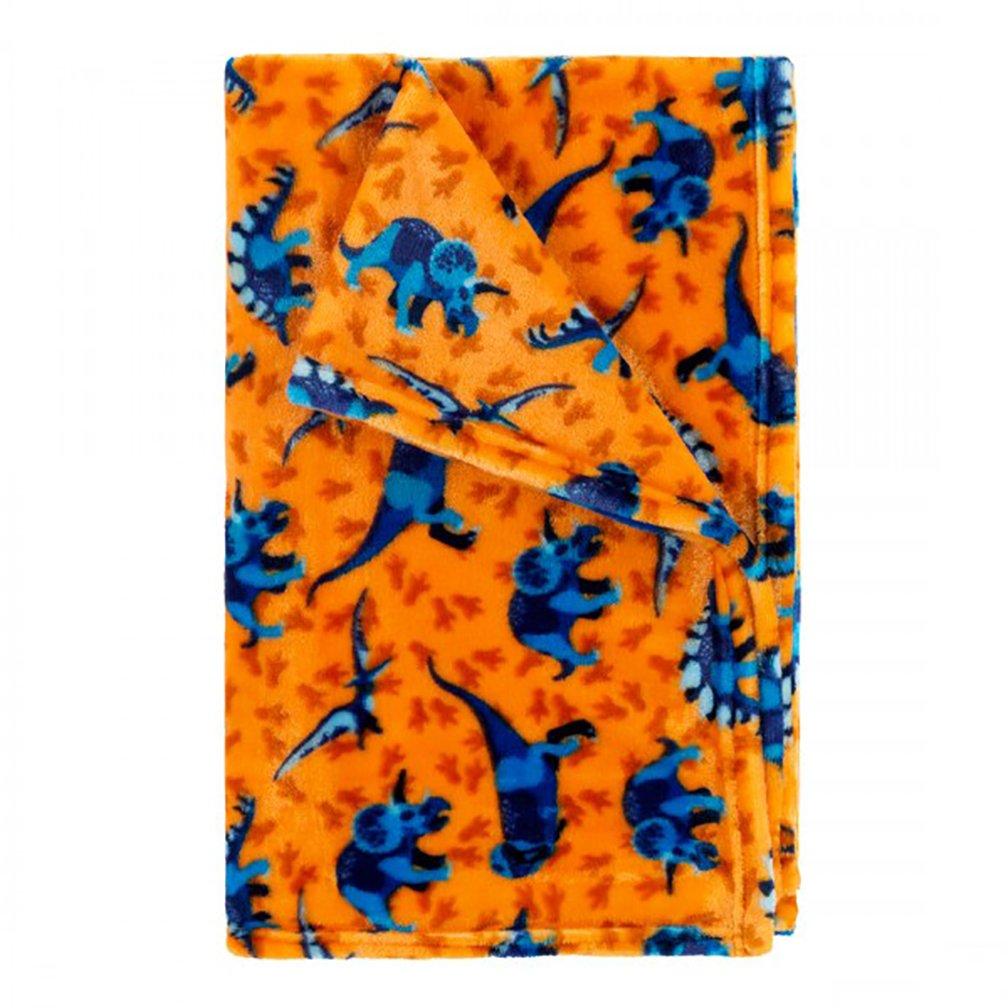 Viv & Lou Childrens Kid's Fashion Print Plush Throw Blanket (Dino-Mite) by Viv & Lou