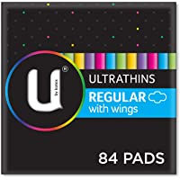 U by Kotex Ultrathin Pads Regular With Wings (Pack of 84)