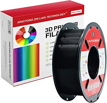 AnKun Pla Filament 1.75mm,Black PLA 3D Printing Filament for 3D printer and 3D Pen Dimensional Accuracy 0.02mm 1kg 1 Spool //