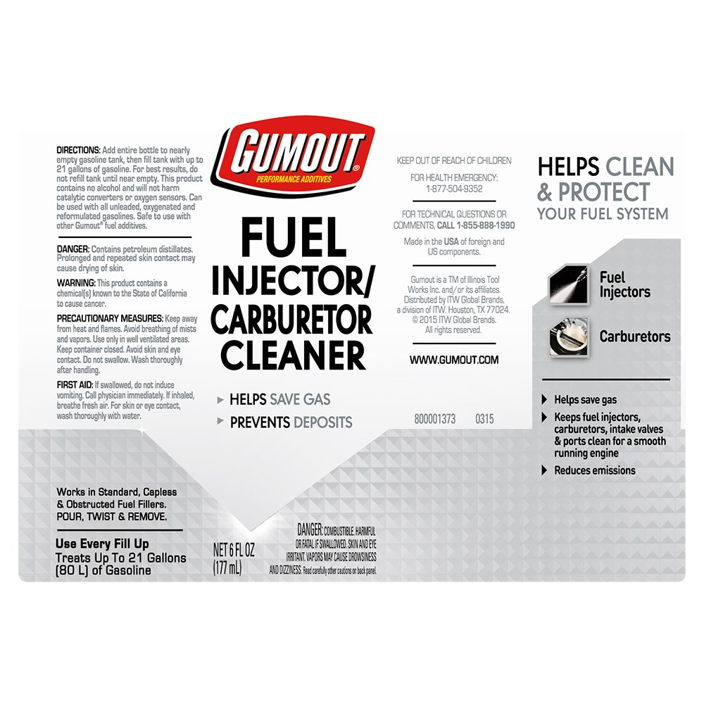 Gumout 510021 Fuel Injector & Carburetor Cleaner