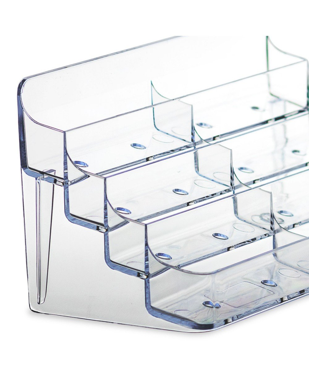 Source One 8 Pocket Desktop Clear Acrylic Business Card Holder (BC-8P) (6 Pack)