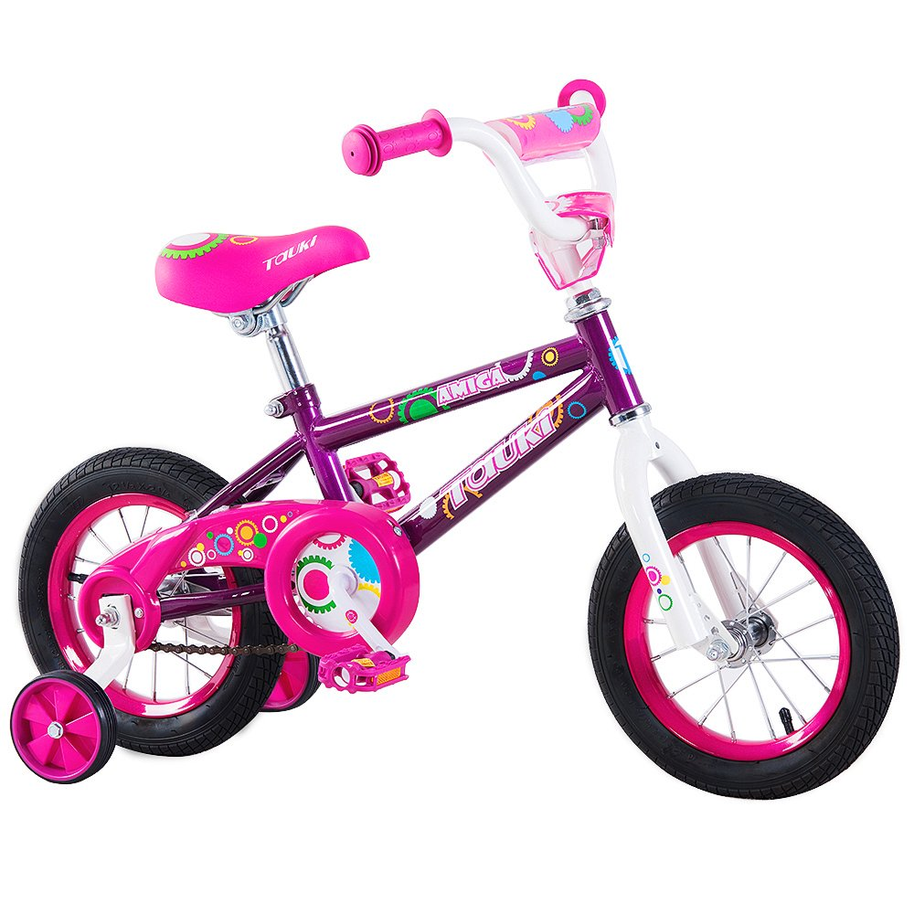 Tauki 12インチ16インチ子供自転車BMXフリースタイルボーイズ、ガールズ、95 %組み立てられ、2 – 5歳の古い B073PRLJ9Q パープル 12inch