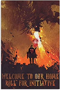 Poster - Welcome to Our Home Roll for Initiative Vertical Poster - Poster Wall Art Print Size 11x17 16x24 24x36 TAV45
