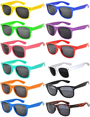 a06e018e12 Amazon.com  Wholesale of 12 Pack Mixed colored Frame Vintage Smoke Lens  Eyeglasses OWL  Clothing