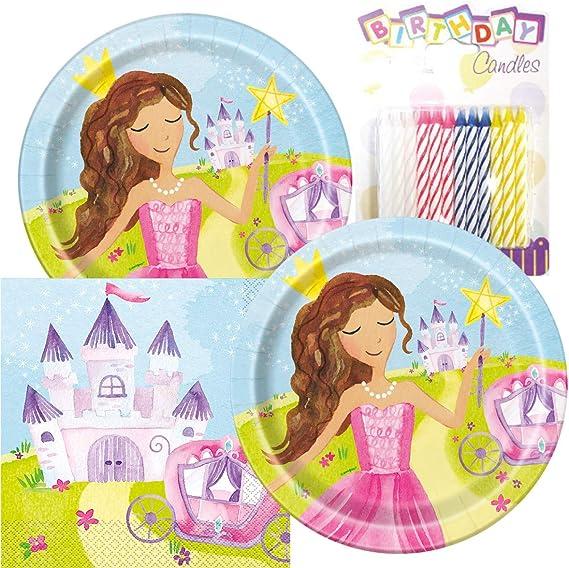 Amazon.com: Mágico princesa fiesta platos y servilletas ...