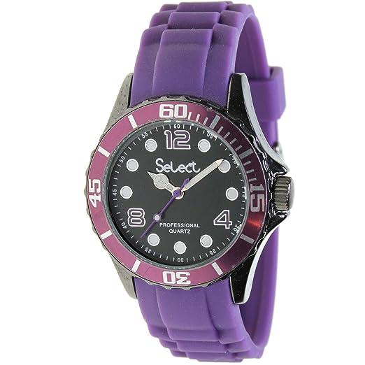 Select Te-37 Reloj Analogico para Chica Caja De Metal Esfera Color Negro: Amazon.es: Relojes