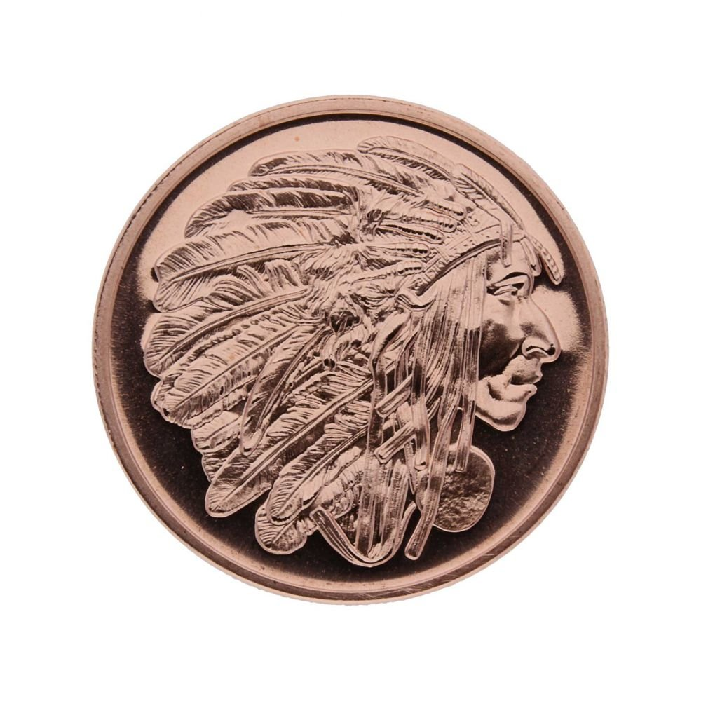 "1 Unze (AVDP) .999 fein Kupfer ""Appeal to Great Spirit"" Golden State Mint"