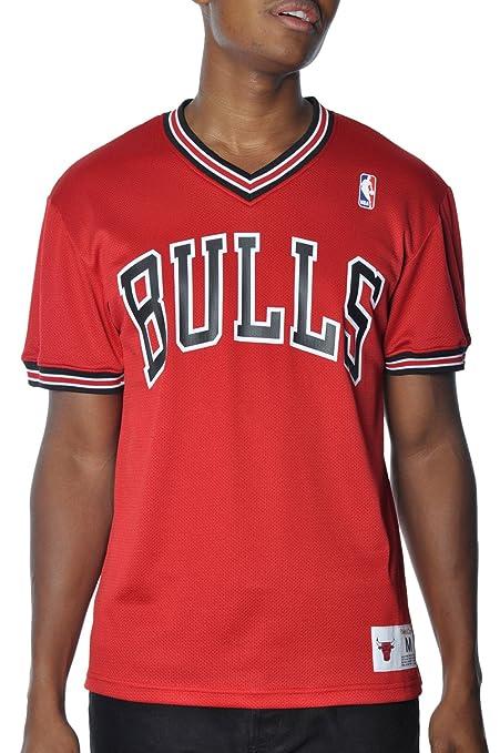 01efd243298 Amazon.com   Mitchell   Ness NBA Vintage Spot Mesh Shooting Jersey ...